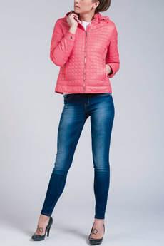 Короткая куртка с капюшоном (коралловая) CONVER со скидкой