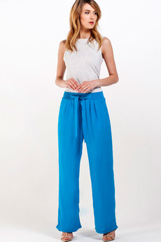 Голубые брюки из хлопка Sheldi со скидкой