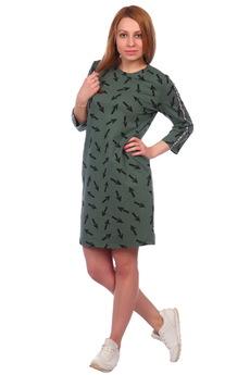 Зеленое платье со стрелками ElenaTex
