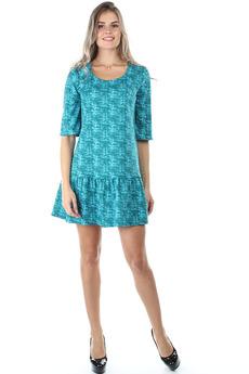 Короткое бирюзовое платье Bast
