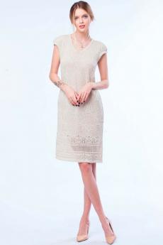 Летнее вязаное платье без рукавов Kvinto