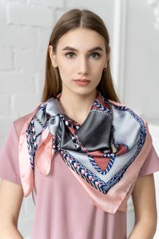 Платок женский серо-розовый MYLIKE