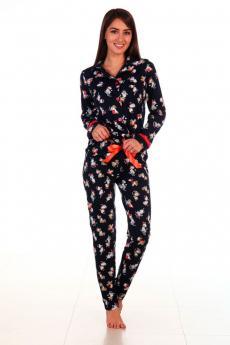 Черная пижама Новое кимоно